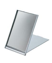 Зеркало косметическое серебристое складное DEWAL