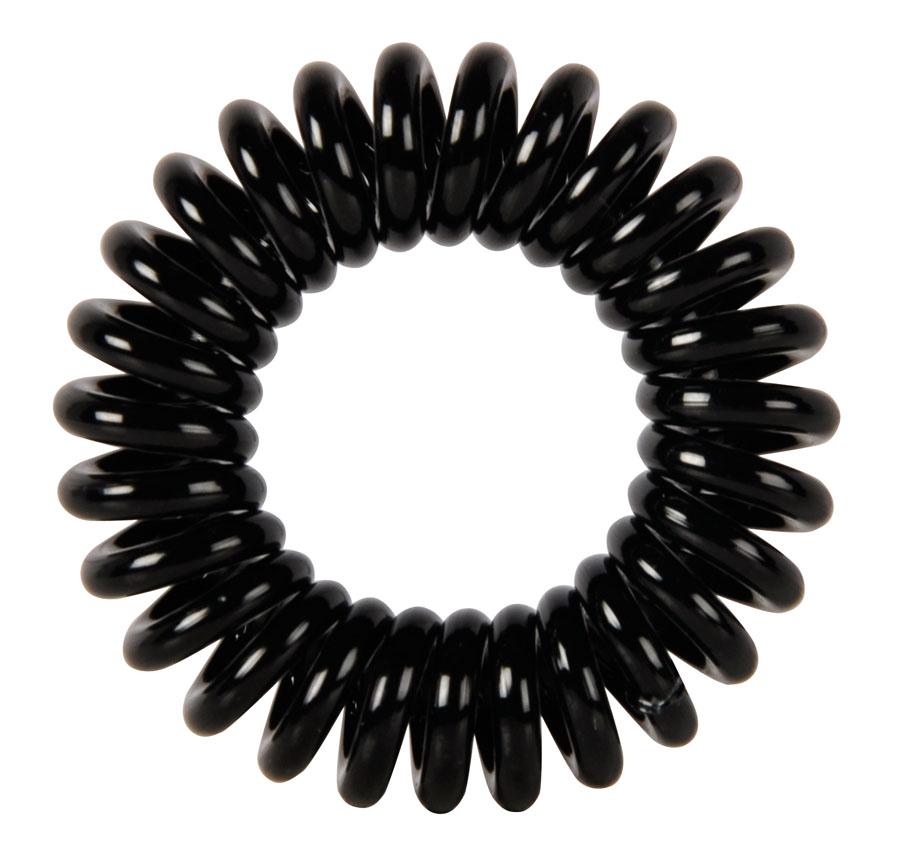 Резинки для волос Пружинка цвет черный DEWAL BEAUTY