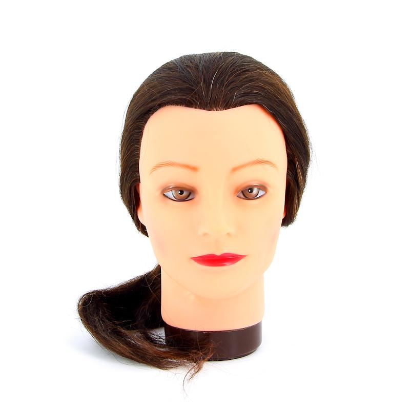 """Голова-манекен учебная """"шатенка"""" для парикмахеров DEWAL"""