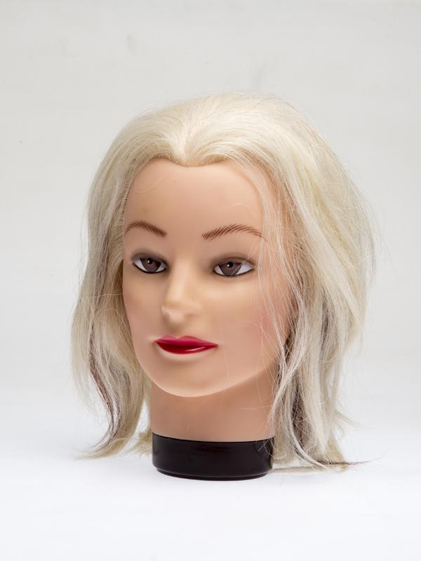 """Голова-манекен учебная """"блондинка"""" для парикмахеров DEWAL"""