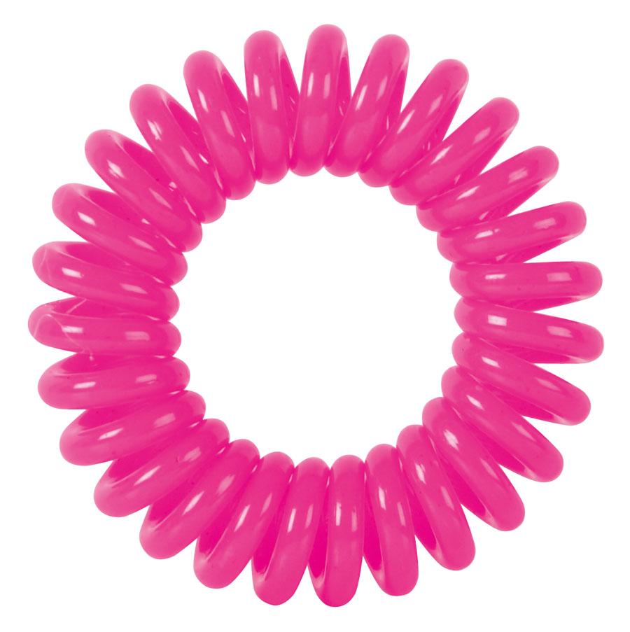 """Резинки для волос """"Пружинка"""" цвет розовый DEWAL BEAUTY"""