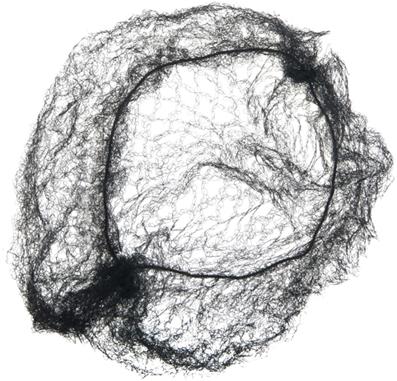 Сеточка-паутинка большая черная DEWAL