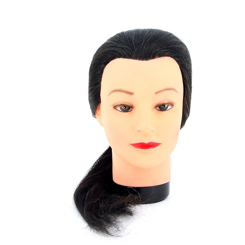 """Голова-манекен учебная """"брюнетка"""" для парикмахеров DEWAL"""