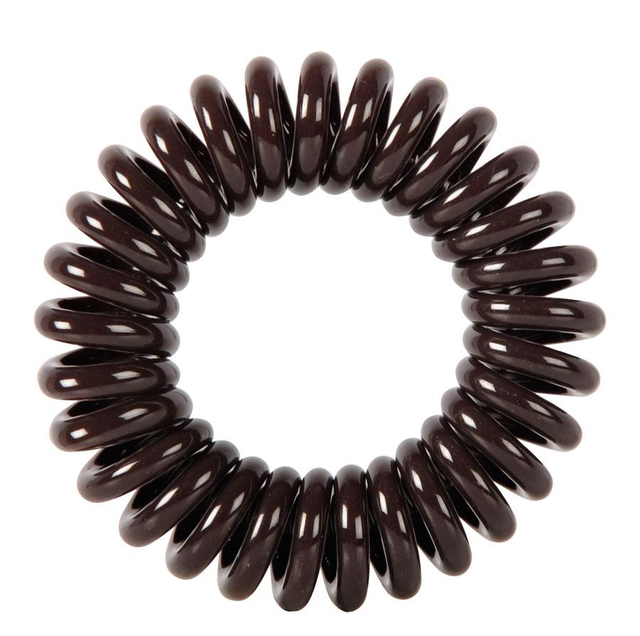 Резинки для волос Пружинка цвет коричневый DEWAL BEAUTY