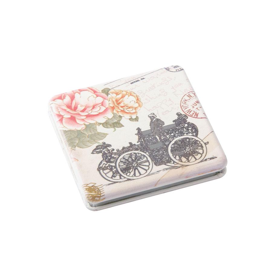 Зеркало карманное квадратное Классическая мода DEWAL BEAUTY