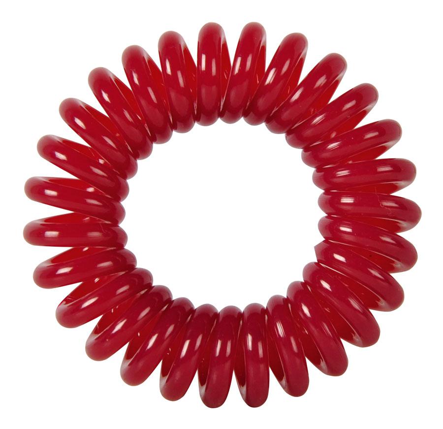 Резинки для волос Пружинка цвет темно-красный DEWAL BEAUTY