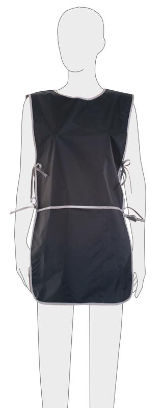 Купить Фартук мастера для стрижки со спинкой короткий DEWAL, BN90015, Черный