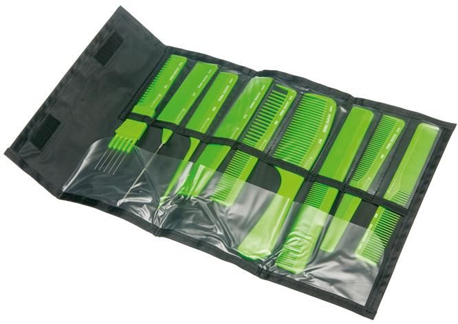 Купить Набор расчесок DEWAL, CO-9-Light Green, Германия, Салатовый
