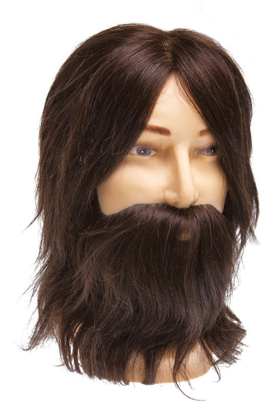 Купить Голова-манекен учебная мужская шатен DEWAL, M-880BD-6, Коричневый