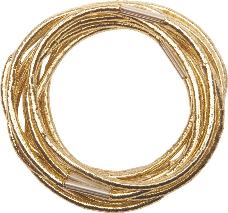 Резинки для волос золотистые DEWAL, RE042, Золотистый  - Купить