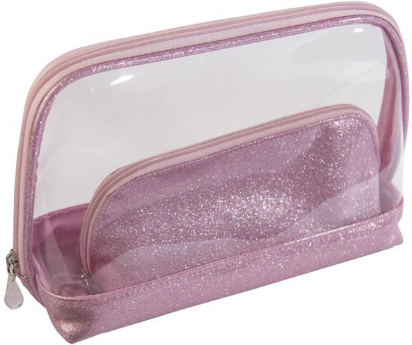 Купить Набор косметичек Северное сияние DEWAL BEAUTY, BG-325, Розовый