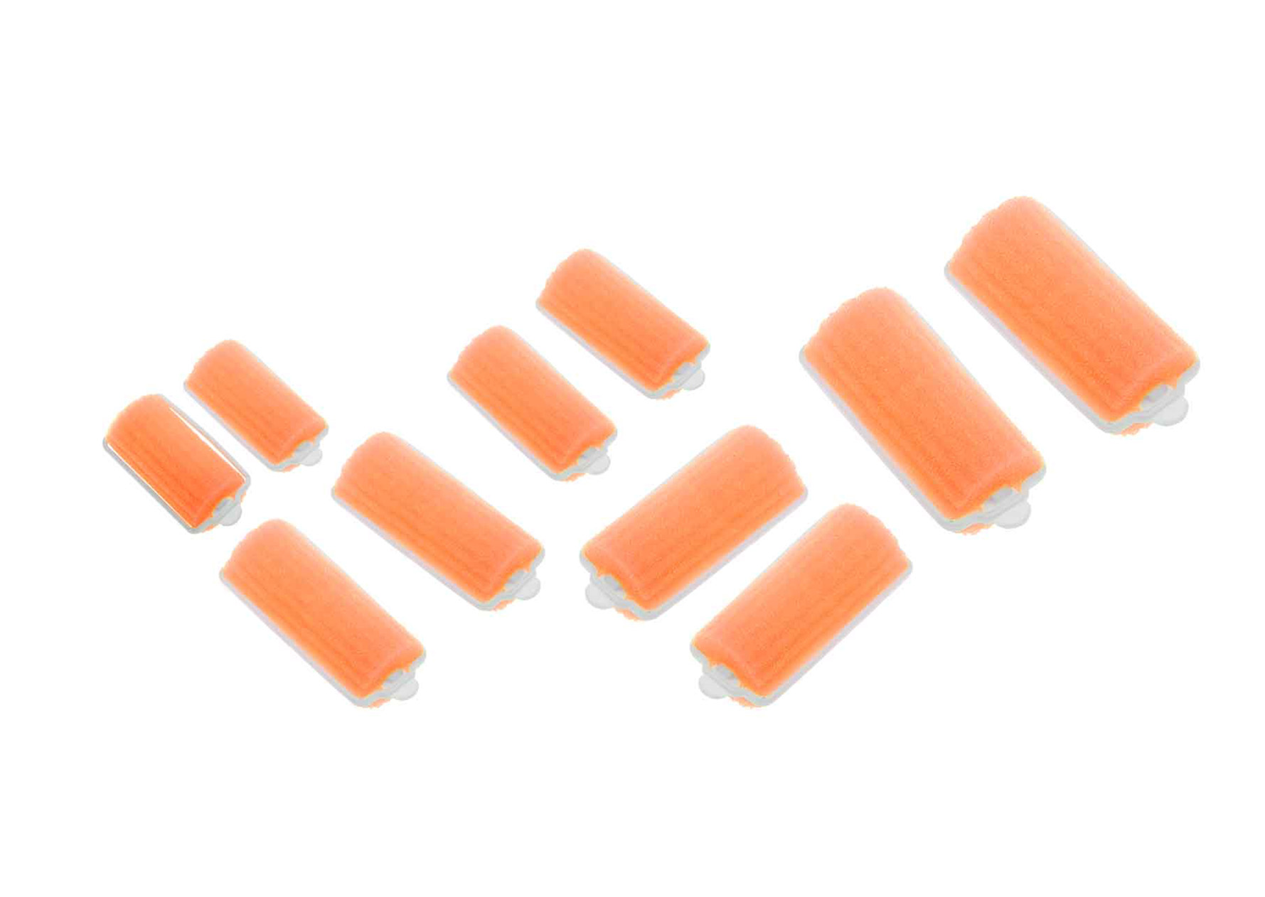Купить Бигуди поролоновые оранжевые DEWAL BEAUTY, DBP22, Оранжевый