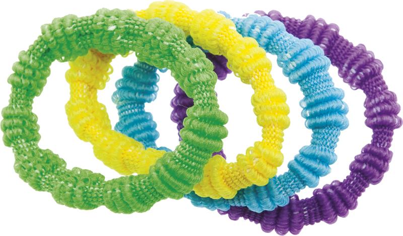 Купить Резинки для волос цветные DEWAL BEAUTY, DBR13, Разноцветный