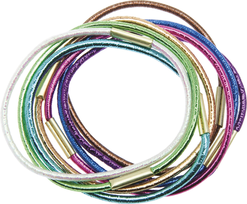 Купить Резинки для волос цветные блестящие DEWAL BEAUTY, DBR15, Разноцветный