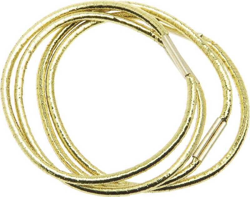 Купить Резинки для волос темно золотистые DEWAL BEAUTY, DBR17, Золотистый