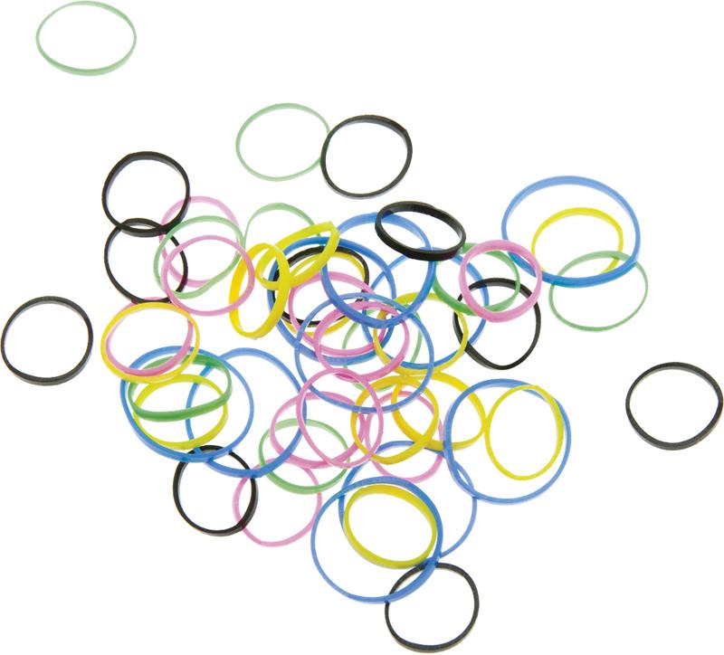 Купить Резинки для волос силикон цветные DEWAL BEAUTY, DBR20, Разноцветный