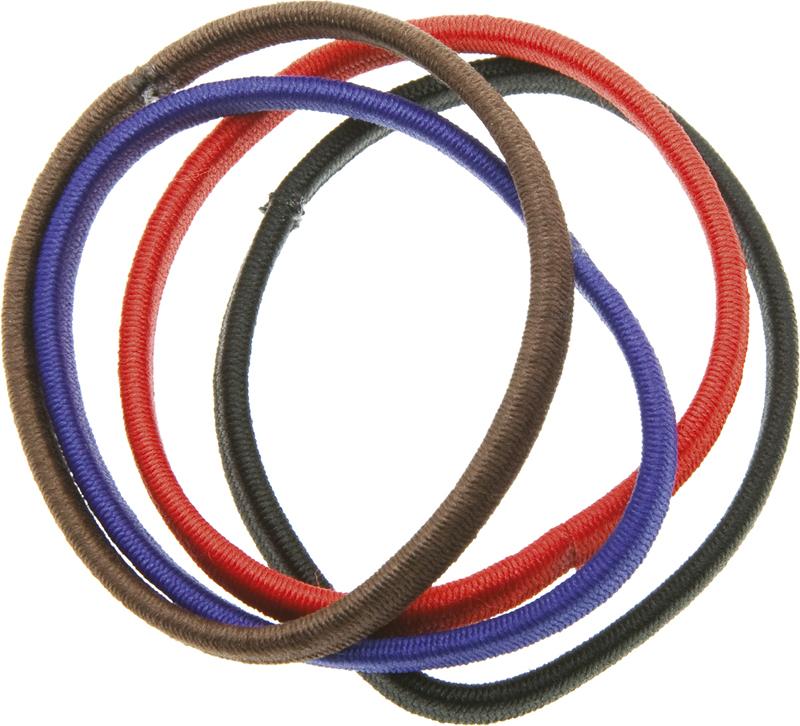 Купить Резинки для волос цветные плоские DEWAL BEAUTY, DBR8, Разноцветный