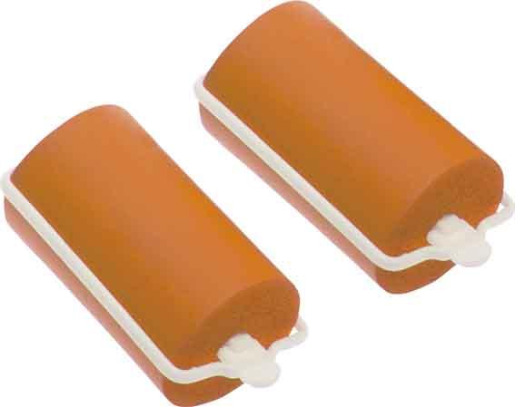 Бигуди резиновые оранжевые DEWAL BEAUTY, DBRZ32, Оранжевый  - Купить