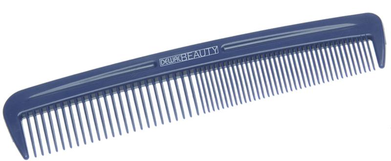 Купить Расческа карманная синяя DEWAL BEAUTY, DBS6033, Синий