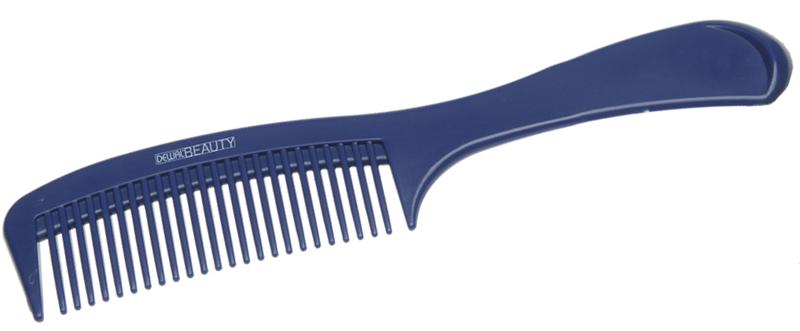 Купить Расческа с ручкой синяя DEWAL BEAUTY, DBS6810, Синий