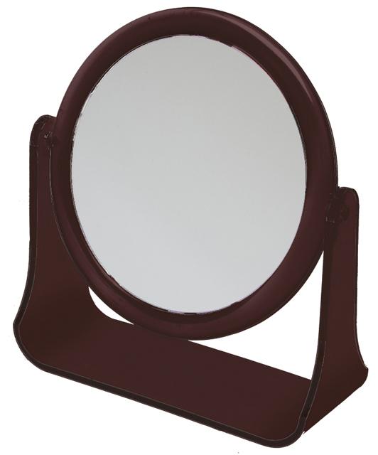 Купить Зеркало настольное в оправе янтарного цвета DEWAL BEAUTY, MR111, Коричневый